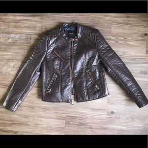 Maroon Marc New York leather like jacket